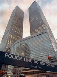 Das World Trade Center nach dem islamistischen Anschlag im Jahr 1993; Foto: AP