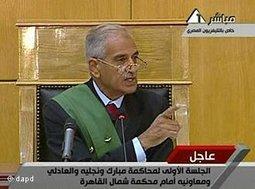 Richter Ahmed Refaat im Mubarak-Prozess; Foto: dapd