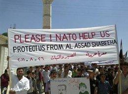 Demonstration syrischer Oppositioneller gegen Assad; Foto: dapd