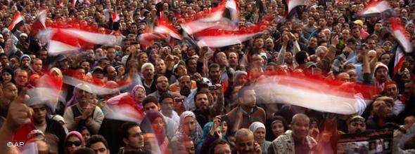 Protestors at Tahrir Square (photo: AP)