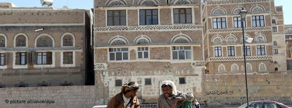 Jemeniten in der Altstadt von Sanaa; Foto: dpa