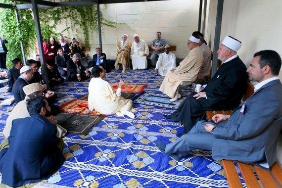 Muslime beim internationalen Friedenstreffen; Foto: © Erzbistum München