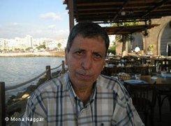 """Jabir Sleiman von der Flüchtlingshilfsorganisation """"Aidoun""""; Foto: Mona Naggar"""