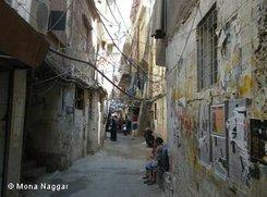 An alley-way in the Palestinian refugee camp Ain El Helweh in Lebanon (photo: Mona Naggar)