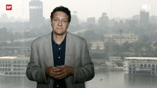 Gawhary-Schalte in der Tagesschau des Schweizer Fernsehens am 26.1.2011, dem sogenannten Tag des Zorns  in Ägypten