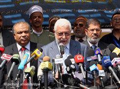 Muslimbruderschaft nach der Gründung der ihrer neuen Partei in Kairo; Foto: dpa