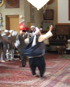 Todd Friedmann und andere Sufis im Naqshbandi-Haqqani Sufi-Orden in Michigan; Foto: Mary Fowles