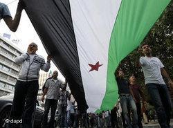 Protests against Syria's President Assad on 30 September 2011 (photo: dapd)