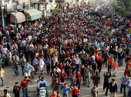 Streik von Textilarbeitern in Mahalla al Kubra; Foto: dpa