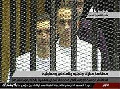 Mubarak-Söhne Alaa und Gamal; Foto: dapd
