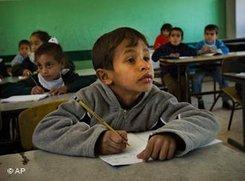 Schüler in einer ägyptischen Schule; Foto: AP
