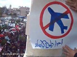 Demonstration für die Einrichtung einer Flugverbotszone in Syrien; Foto: dapd