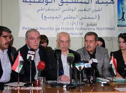 Treffen des Syrischen Nationalrats in Damaskus; Foto: dpa