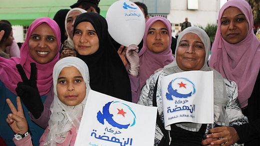 Anhängerinnen der Ennahda in Tunis; Foto: DW