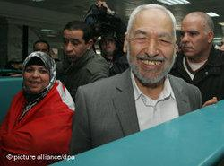 Rachid Ghannouchi; Foto: dpa
