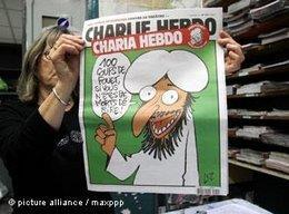Sonderausgabe der Charlie Hebdo: Charia Hebdo; Foto: picture alliance