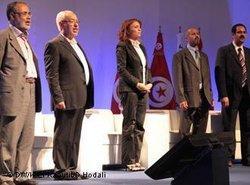 """Vertreter der """"Ennahda"""" auf ihrem letzten Parteitag in Tunis; Foto: DW"""