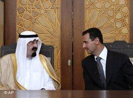 Baschar Assad trifft König Abdullah in Damaskus; Foto: AP