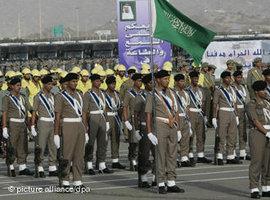 Saudische Truppen in Bahrain; Foto: dpa