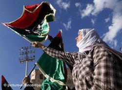 Jubel in Libyen nach Bekanntwerden der Nachrichten über die Festnahme Saif al-Islams; Foto: dpa