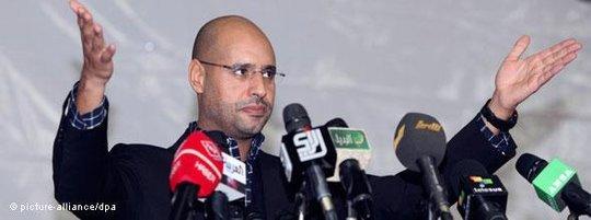 Saif al-Islam Gaddafi; Foto: dpa