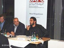 Parlamentskandidat Khalid Tallima in Berlin; Foto: DFAG