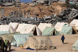 Palästinensisches Flüchtlingslager in Gaza; Foto: picture alliance