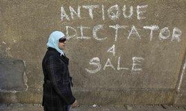 Antiker Diktator zu verkaufen - Graffiti an einer Häuserwand in Kairo; Foto: dpa