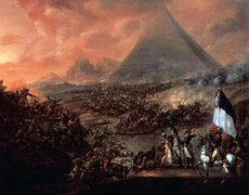 A painting depicting the Battle of the Pyramids by Francois-Louis-Joseph Watteau (photo: Wikipedia)