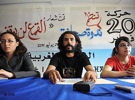 Aktivisten der Jugendbewegung 20. Februar; Foto: DW