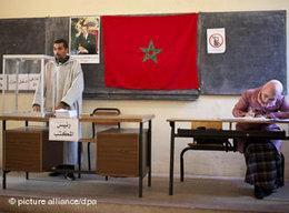Wahllokal in der marokkanischen Hauptstadt Rabat; Foto: dpa