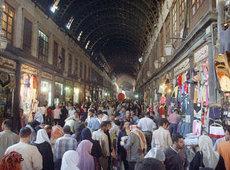 Menschenmenge in einem syrischen Basar; Foto:AP