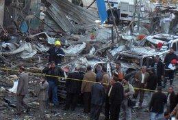 Nach der Anschlagsserie in Bagdad; Foto: AP