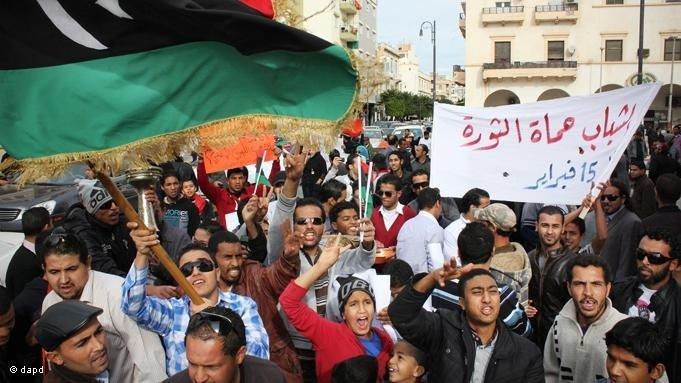 Demonstration zum Schutz der libyschen Revolution in Benghasi; Foto: dapd