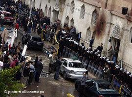 Bombenanschlag auf eine koptische Kirche in Alexandria; Foto: dpa