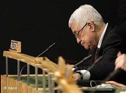 Palästinenserpräsident Mahmoud Abbas bei einer UN-Vollversammlung; Foto: dapd
