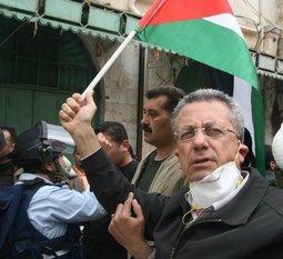 Mustafa Barghouti in Hebron; Foto: Muhannad Hamed