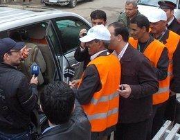 Arab League observers in Deraa (photo: AP)