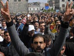 Demonstration gegen Assad; Foto: AP