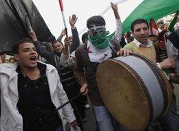 Demonstranten am Tahrir-Platz in Kairo; Foto: AP