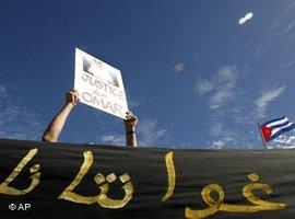 Proteste gegen das Lager in Guantanamo; Foto: