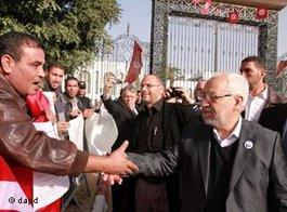 Rachid Ghannouchi, Chef der islamischen Regierungspartei Ennahda in Tunis; Foto: dapd