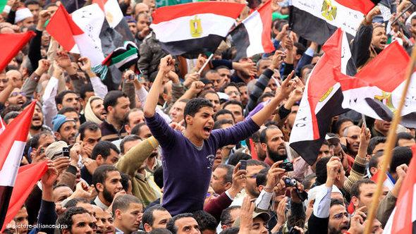 Demonstranten in Kairo; Foto: dpa