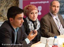 Students of Islamic theology at the University of Tübingen (photo: dpa)