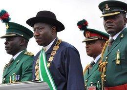 Nigerias Präsident Goodluck Jonathan während einer Zeremonie in Abuja; Foto: EPA