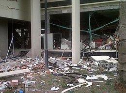 Anschlag auf ein UN-Büro in Abuja am 26. August 2011; Foto: AP/dapd