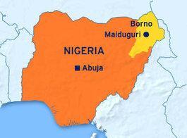 Karte Nigerias; Foto: DW