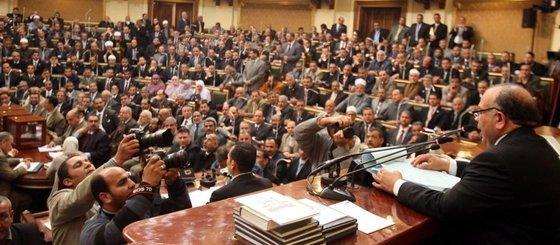 Vertreter der Muslimbruderschaft im neuen ägyptischen Parlament; Foto: AP