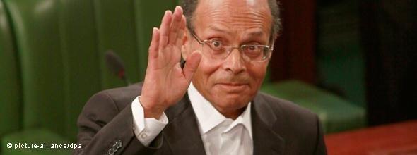 Moncef Marzouki, neuer Präsident Tunesiens; Foto: dpa