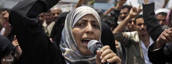 Tawakkul Karman, jemenitische Aktivistin und Friedensnobelpreisträgerin; Foto: AP/dapd